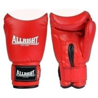 Rękawice do walki, Rękawice bokserskie Allright PVC 6oz czerwono - białe