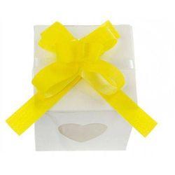 Wstążki ściągane na ślub - żółta 1 cm 50 szt.
