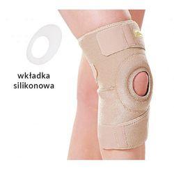 Neoprenowy stabilizator na kolano, zapinany, DŁUGI. Beżowy lub Czarny