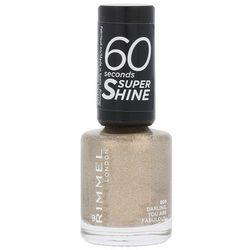 Rimmel London 60 Seconds Super Shine lakier do paznokci 8 ml dla kobiet 809 Darling, You Are Fabulous!