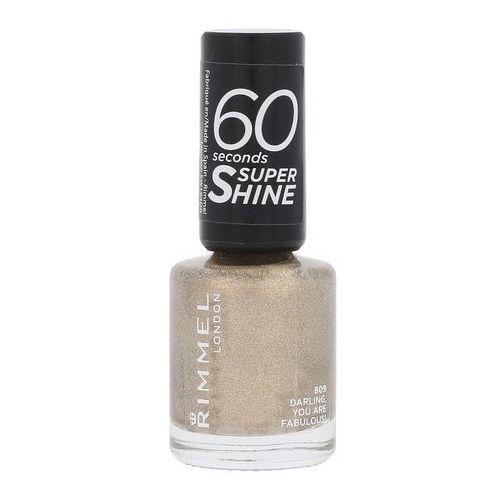 Lakiery do paznokci, Rimmel London 60 Seconds Super Shine lakier do paznokci 8 ml dla kobiet 809 Darling, You Are Fabulous!