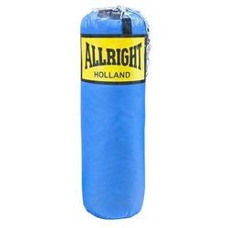 Worek bokserski Allright 90 x 30cm 14kg niebieski, łańcuch
