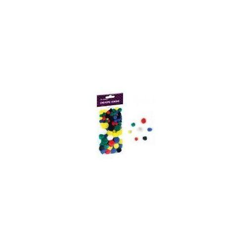 Pozostałe artykuły szkolne, Pompony kolorowe Fandy mix 78szt