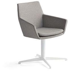 Krzesło konferencyjne FAIRVIEW, biały, srebrnoszary
