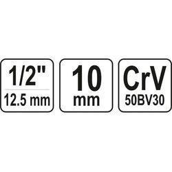 Nasadka spline Yato 1/2 10 x 38 mm