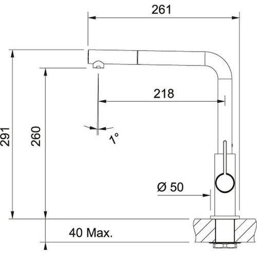 Baterie do kuchni, Bateria Franke Neptune 115.0150.242