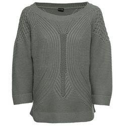 Sweter w warkocze, krótki rękaw bonprix kobaltowy