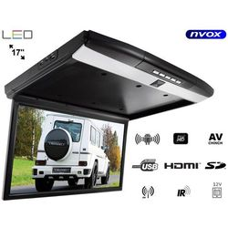 "Monitor podwieszany podsufitowy LED 17"" z systemem ANDROID USB SD FM BT WiFi 12V"