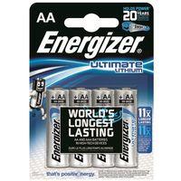 Baterie, 4 x bateria foto litowa Energizer L91 Ultimate Lithium R6 AA
