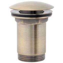 Korek click-clack cylindryczny A706B Omnires brąz antyczny