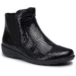 Botki CAPRICE - 9-25455-23 Black Croc Pat 065