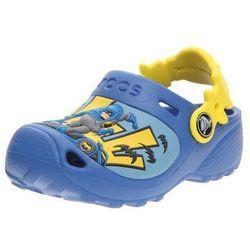 Crocs Kids Classic Caped Crusader Sea Blue Niebieskie klapki dla dzieci z Batmanem Różne rozmiary