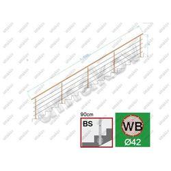 Zabradlie BUK (BEECH) bočne kotv. schodisko L=6000