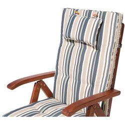 Poducha na krzesło TOSCANA beżowo-zielone paski Darmowa wysyłka i zwroty