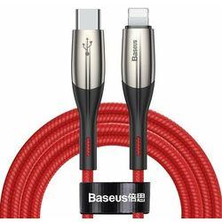 Baseus Horizontal Data | Kabel Type-C - Lightning Power Delivery PD 18W 200cm | czerwony - 200cm \ Czerwony