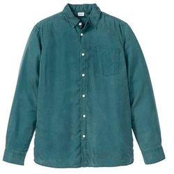 Koszula z długim rękawem z lyocellu, przyjazna dla środowiska bonprix niebieskozielony