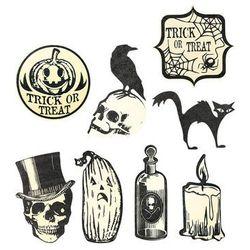 Zestaw dekoracji halloween'owa na ścianę - 9 szt.