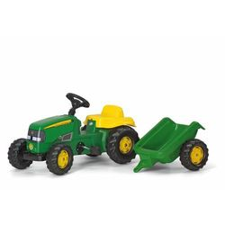 Rolly Toys Traktor na pedały Rolly Kid J.Deere z przyczepą