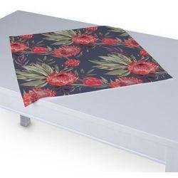 Dekoria Serweta 60x60 cm, czerwone kwiaty na czarnym tle, 60 x 60 cm, New Art