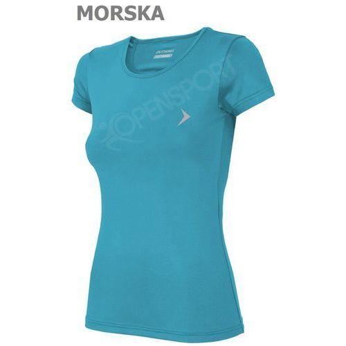Odzież fitness, DAMSKA KOSZULKA FITNESS OUTHORN TOZ16 TSDF600 MORSKI S