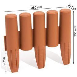 Palisada ogrodowa obrzeże 2,7m x 15,5cm Terakota (Jasny Brąz) IPAL5 Prosperplast IIPAL5TE - ZYSKAJ RABAT 30 ZŁ