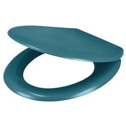 Deska WC GoodHome Genoa wolnoopadająca z duroplastu niebieska
