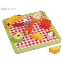 Zabawki z drewna, Warzywa i owoce zestaw do krojenia drewniany magnetyczny - Janod