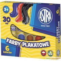 Farbki, Farby plakatowe ASTRA 6 kolorów tuba (30 ml)