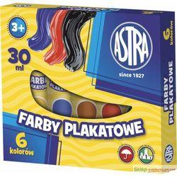 Farby plakatowe ASTRA 6 kolorów tuba (30 ml)