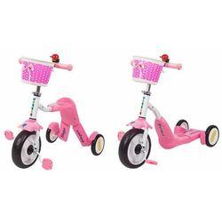 Hulajnoga trójkołowa i rowerek dla dzieci 2w1 Blagrie Worker - różowy