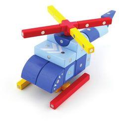 Klocki drewniane magnetyczne - Samoloty 44 el.
