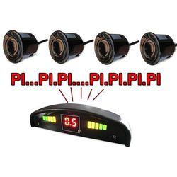 Czujniki parkowania czujniki cofania 4 sens LCD CZARNY