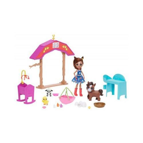 Lalki dla dzieci, Lalka Enchantimals żłobek na farmie, zwierzątka