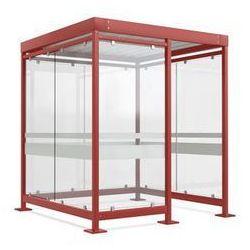 Zadaszenie z dachem stalowym,7 elementów szyb, prawa strona otwarta
