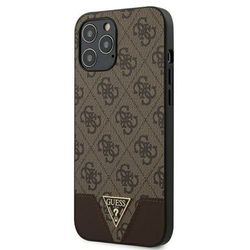 Guess 4G Triangle Collection - Etui na iPhone 12 Pro Max (brązowy)