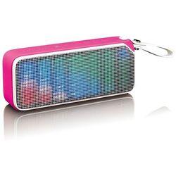 Lenco Głośnik stereo Disco Light BT-191, bluetooth, różowy Darmowa wysyłka i zwroty