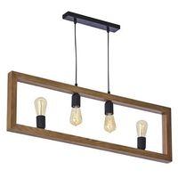 Lampy sufitowe, TK Lighting 4276 - Żyrandol na lince METRO 4xE27/60W/230V