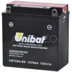 Akumulator UNIBAT AGM CBTX9A-BS 12V 9Ah 130A lewy+