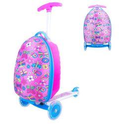 Hulajnoga trójkołowa z plecakiem dla dzieci WORKER Lagy - różowy