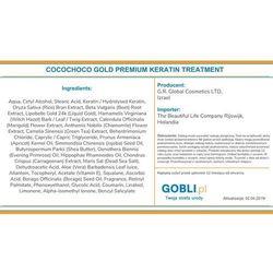 Cocochoco gold premium keratin treatment, keratyna do prostowania 1000ml