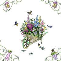Pozostałe artykuły szkolne, Karnet Swarovski kwadrat CL2712 Taczka z kwiatami