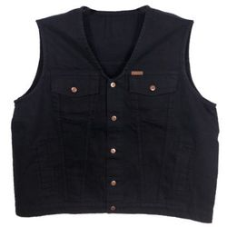 Bezrękawnik Divest Jeans Czarny 4 XL Czarny Jeans / Bawełna