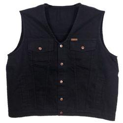 Bezrękawnik Divest Jeans Czarny 5 XL Czarny Jeans / Bawełna