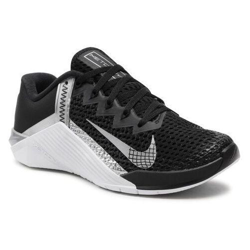Damskie obuwie sportowe, Buty NIKE - Metcon 6 AT3160 Black/Metallic Silver