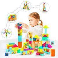 Zabawki z drewna, Klocki drewniane i gumowe TOP BRIGHT 80 elementów +DARMOWA DOSTAWA przy płatności KUP Z TWISTO