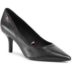 Szpilki TOMMY HILFIGER - Essential Leather Mid Heel Pump FW0FW05247 Black BDS