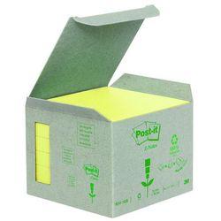 Bloczek samop. ekologiczny POST-IT® Z-notes (R330-1B), 76x76mm, 6x100 kart., żółty