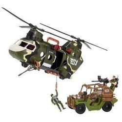 True Heroes Helikopter Siły Wolności Duzy+Jeep 45cm 5F60A98