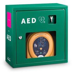 Szafka metalowa HS-020 do defibrylatorów AED 39x39x19 - zielona