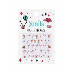 Naklejki na paznokcie dla dzieci Snails - Flamingos